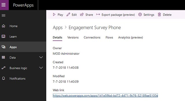PowerApps SPFx web part