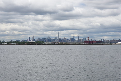 Flushing Bay City Skyline
