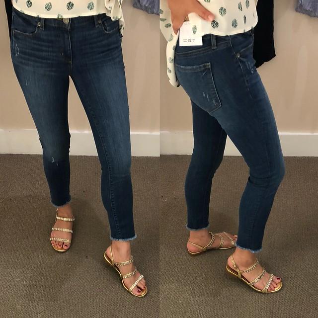 LOFT Modern Fresh Cut Skinny Jeans in Mid Stonewash, size 25/0P
