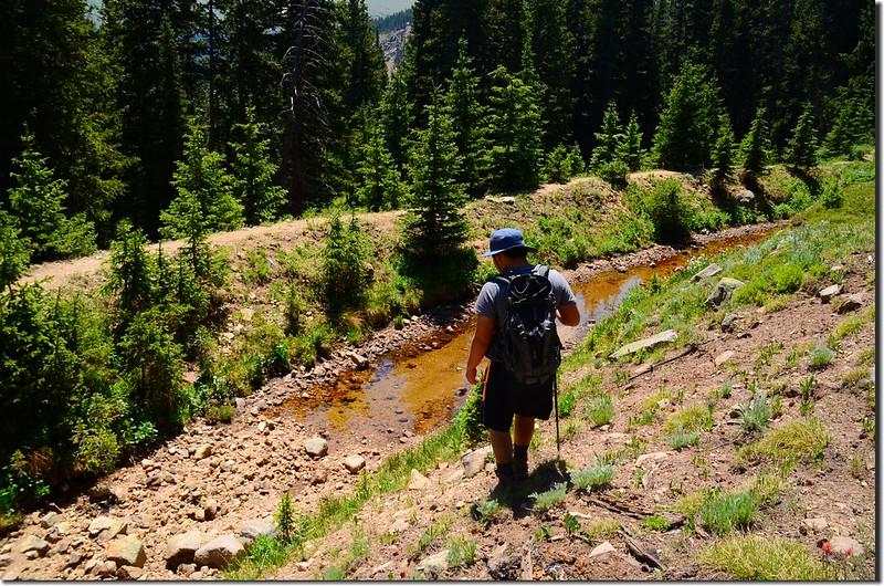 Jacob want to cross Berthoud Pass Ditch