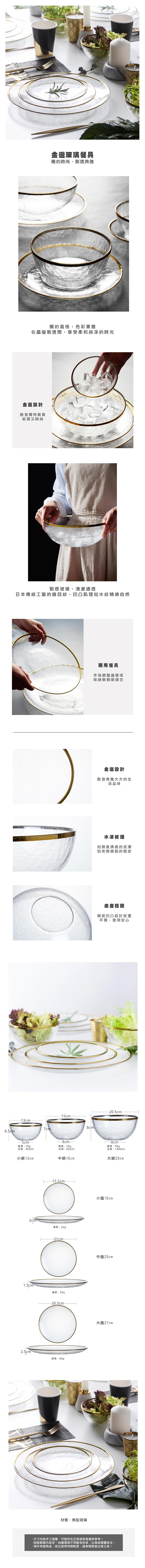 金邊玻璃餐具
