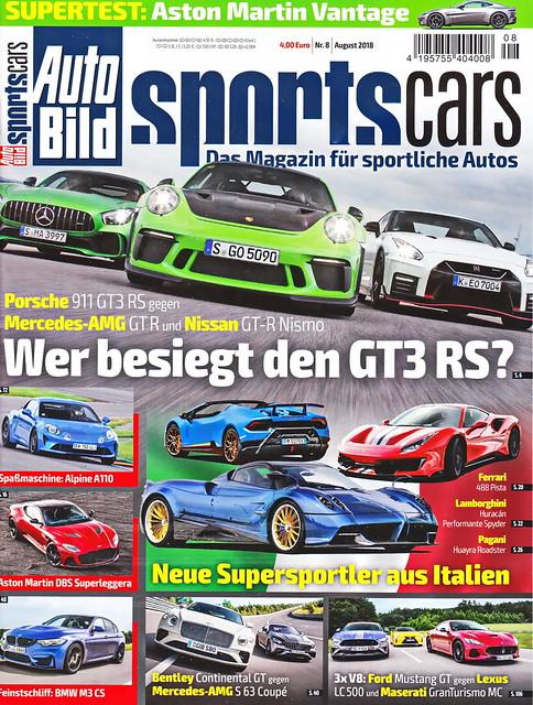 Auto Bild Sportscars 8/2018