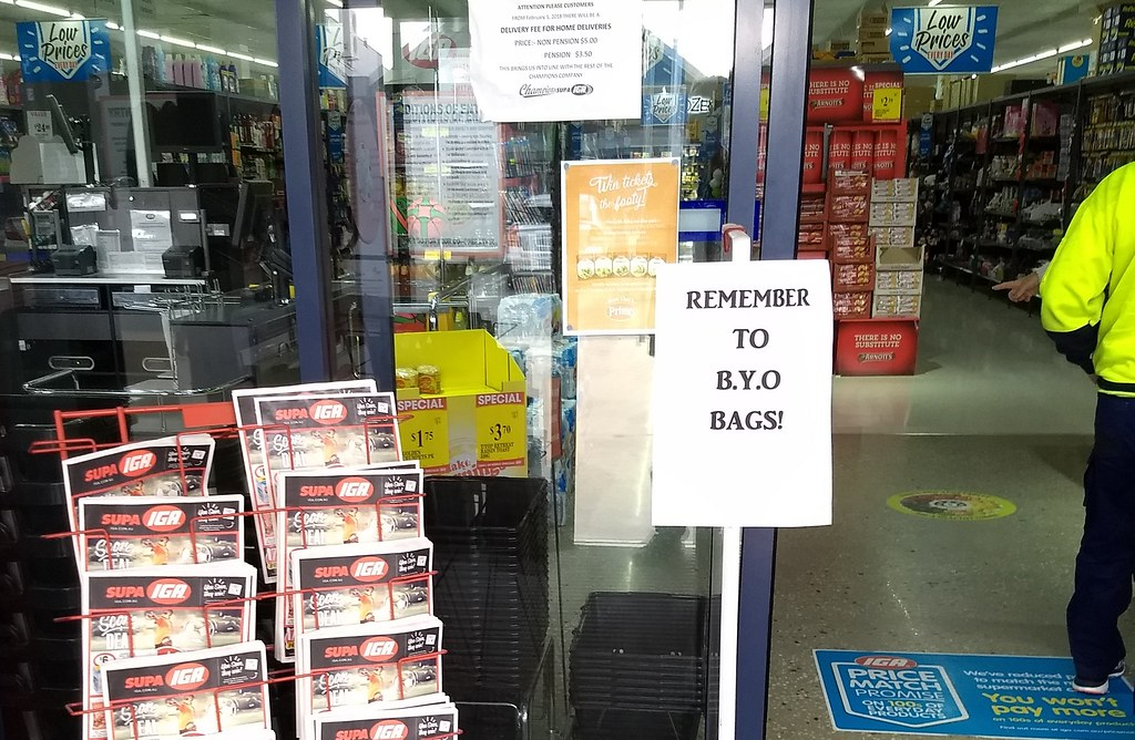 Nagambie IGA: Bring your own bags