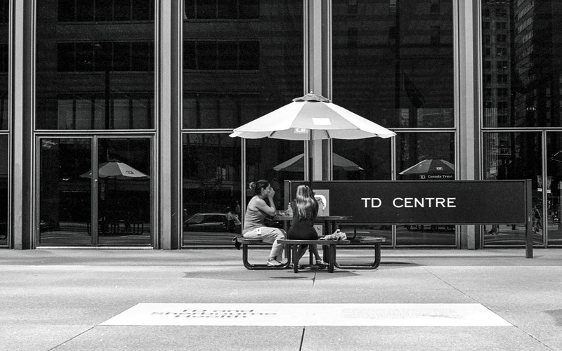 Lunching in Front of the TD Centre