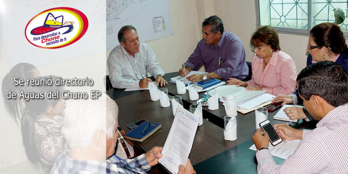 Se reunió directorio de Aguas del Chuno EP