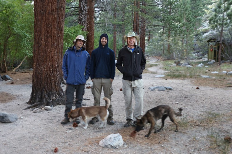 Ready to hike at 6am on the North Fork Big Pine Creek Trail from the Walk-In Campground