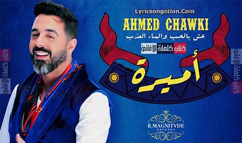 كلمات اغنية احمد شوقي اميرة مكتوبة