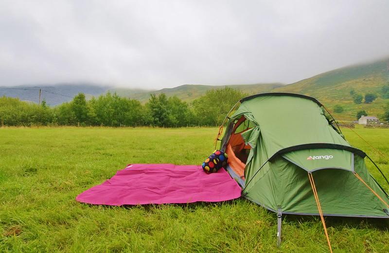 Vango Banshee 200 at Nant Peris campsite Snowdonia
