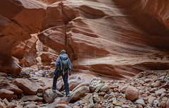 Hiking Through Happy Slot Canyon