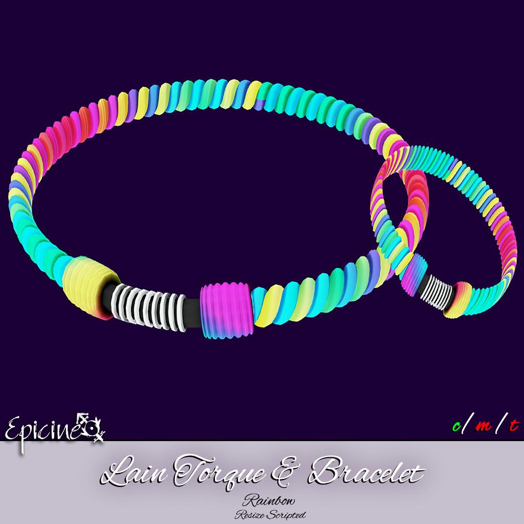 Epicine – Lain Torque & Bracelet – Rainbow