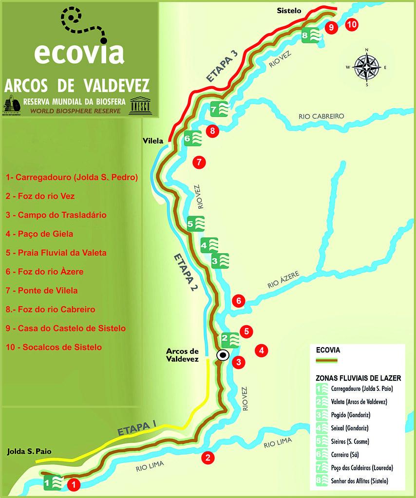 02.- Mapa da Ecovia de Arcos de Valdevez com logo