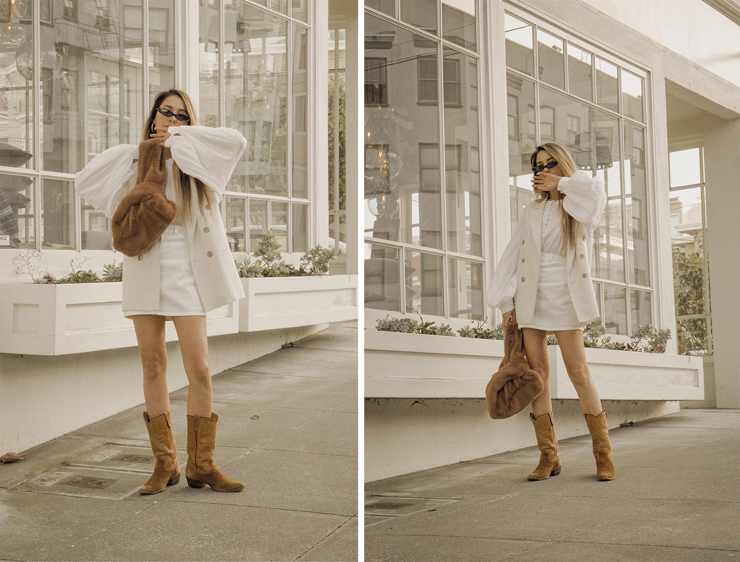 total_all_white_outfit_look_street_style_western_boots_isabel_marant_inspired_fur_bag_vest_denim_skirt_summer_2018_trend_lena_juice_the_white_ocean_06