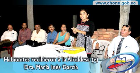 Habitantes recibieron a la Alcaldesa (e) Dra. María Inés García