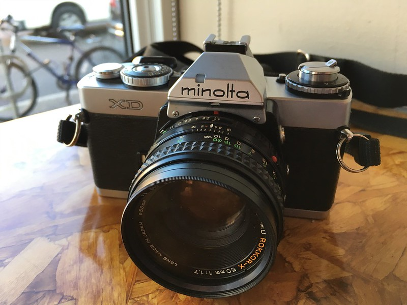 My Minolta XD back from its CLA.
