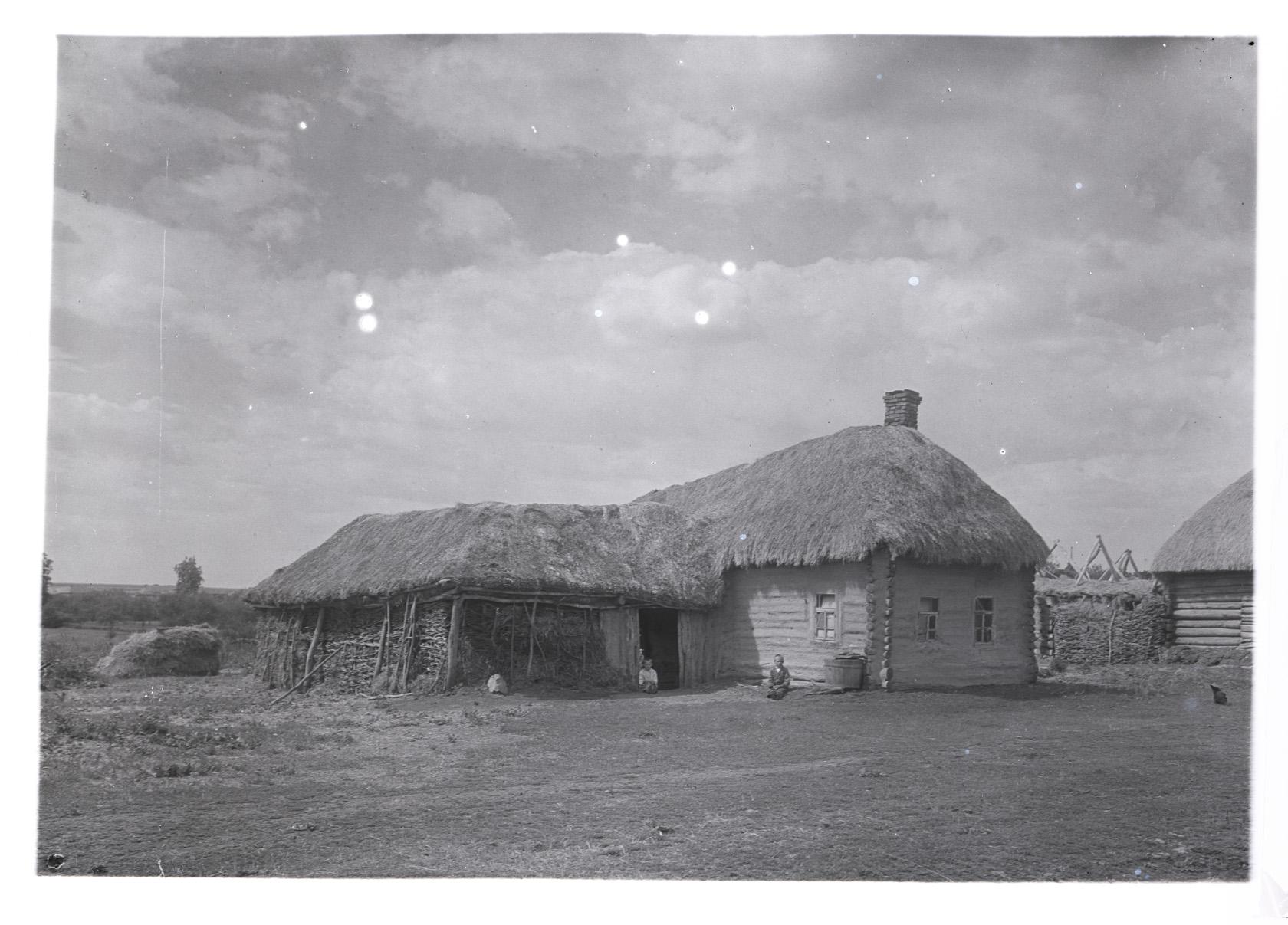 Село Лермонтово. Крестьянская изба. Фотография В.Г. Чудинова. 1938 г.