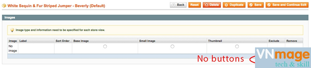 How to fix product image upload button missing magento 1.9.x