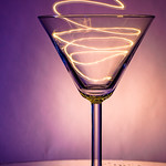 light party in a martini glass