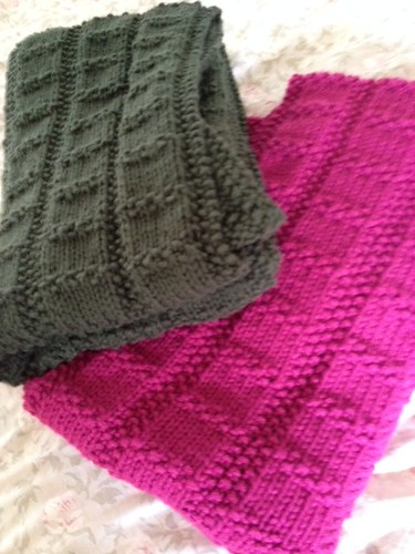 Connie's His and Hers Prayer Shawls are off her needles and ready to be gifted