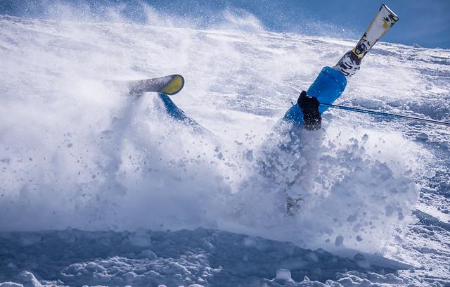 Off piste skiing, Panasonic DMC-GX8, Lumix G Vario 45-200mm F4.0-5.6 Mega OIS