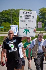 Protesting the Soon to be Built Foxconn Electronics Plant Mt. Pleasant Wisconsin 6-28-18  2078