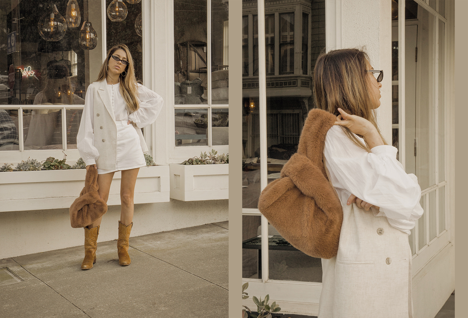 total_all_white_outfit_look_street_style_western_boots_isabel_marant_inspired_fur_bag_vest_denim_skirt_summer_2018_trend_lena_juice_the_white_ocean_01