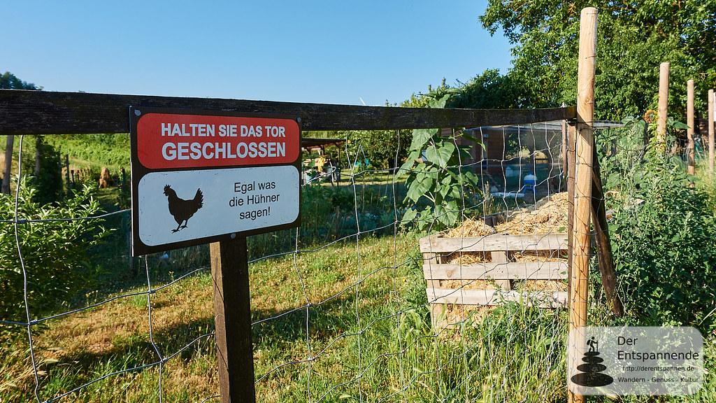 HALTEN SIE DAS TOR GESCHLOSSEN - Egal was die Hühner sagen!