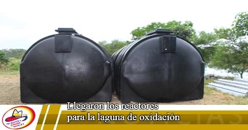 Llegaron los reactores para la laguna de oxidación