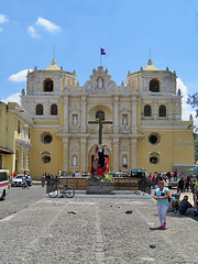 ANTIGUA, GUATEMALA - La Merced church/ АНТИГУА, ГВАТЕМАЛА - костёл Милости Девы Марии