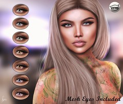 ::MD:: Ana Catwa Eye Appliers + Mesh Eyes [Unrigged]