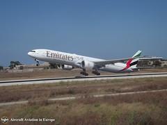 Emirates A6-EGL Malta