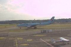 Korean Air Airbus A330 HL8228 charter Basel EuroAirport Airport webcam