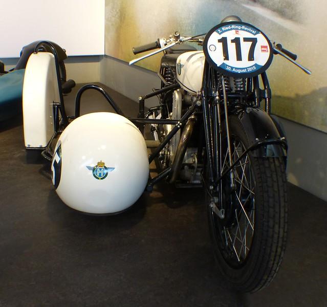Horex S8 Gespann 1935 white Braun Badsching v