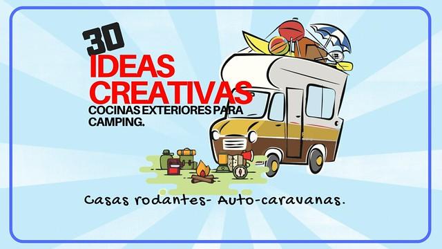 30 Ideas Creativas- Cocinas exteriores para camping