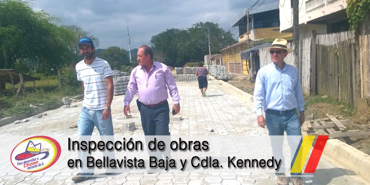 Inspección de obras en Bellavista Baja y Cdla. Kennedy