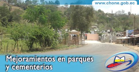 Mejoramientos en parques y cementerios