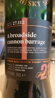 SMWS 27.112 - A broadside cannon barrage