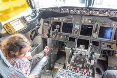 Kid in the cockpit