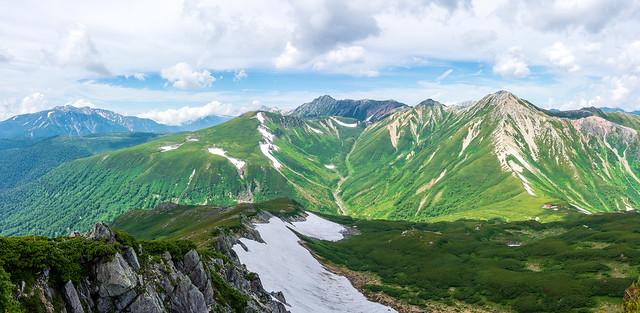 三俣蓮華岳からの眺め