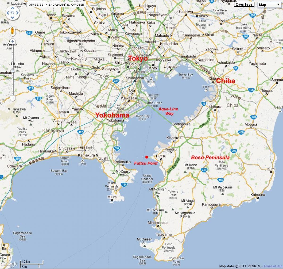 Present-day Tokyo Bay, Japan