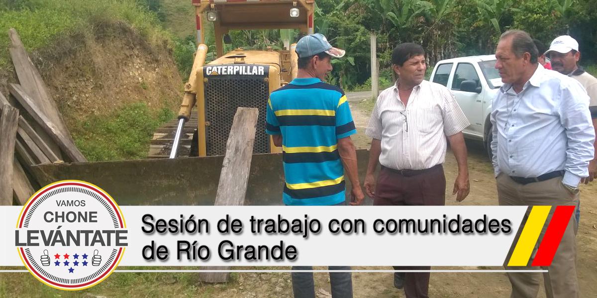 Sesión de trabajo con comunidades de Río Grande