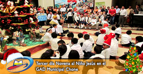 Tercer día Novena al Niño Jesús en el GAD Municipal Chone