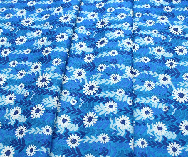 COTTON+STEEL Freshly Picked 0062-02 Daisies Blue