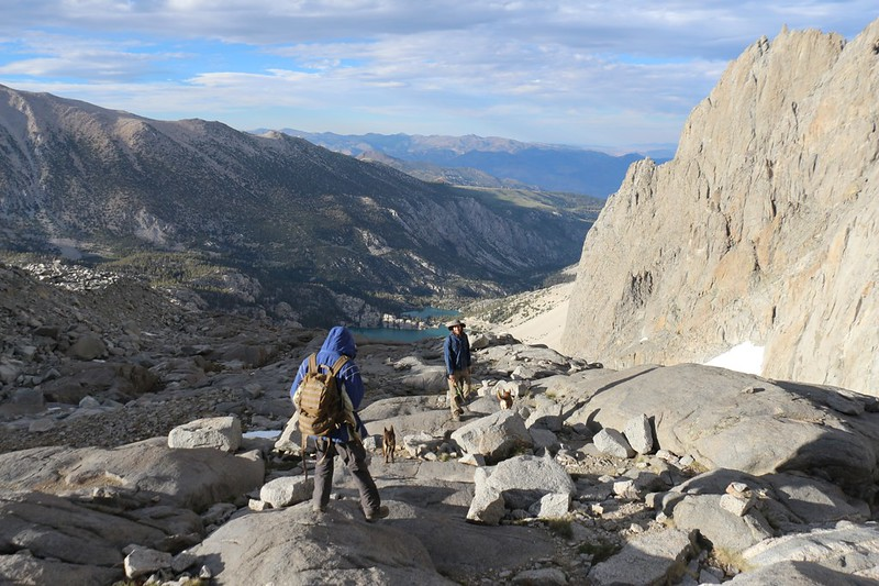 It's getting late and the temperature is dropping so we headed back down the Palisade Glacier Trail