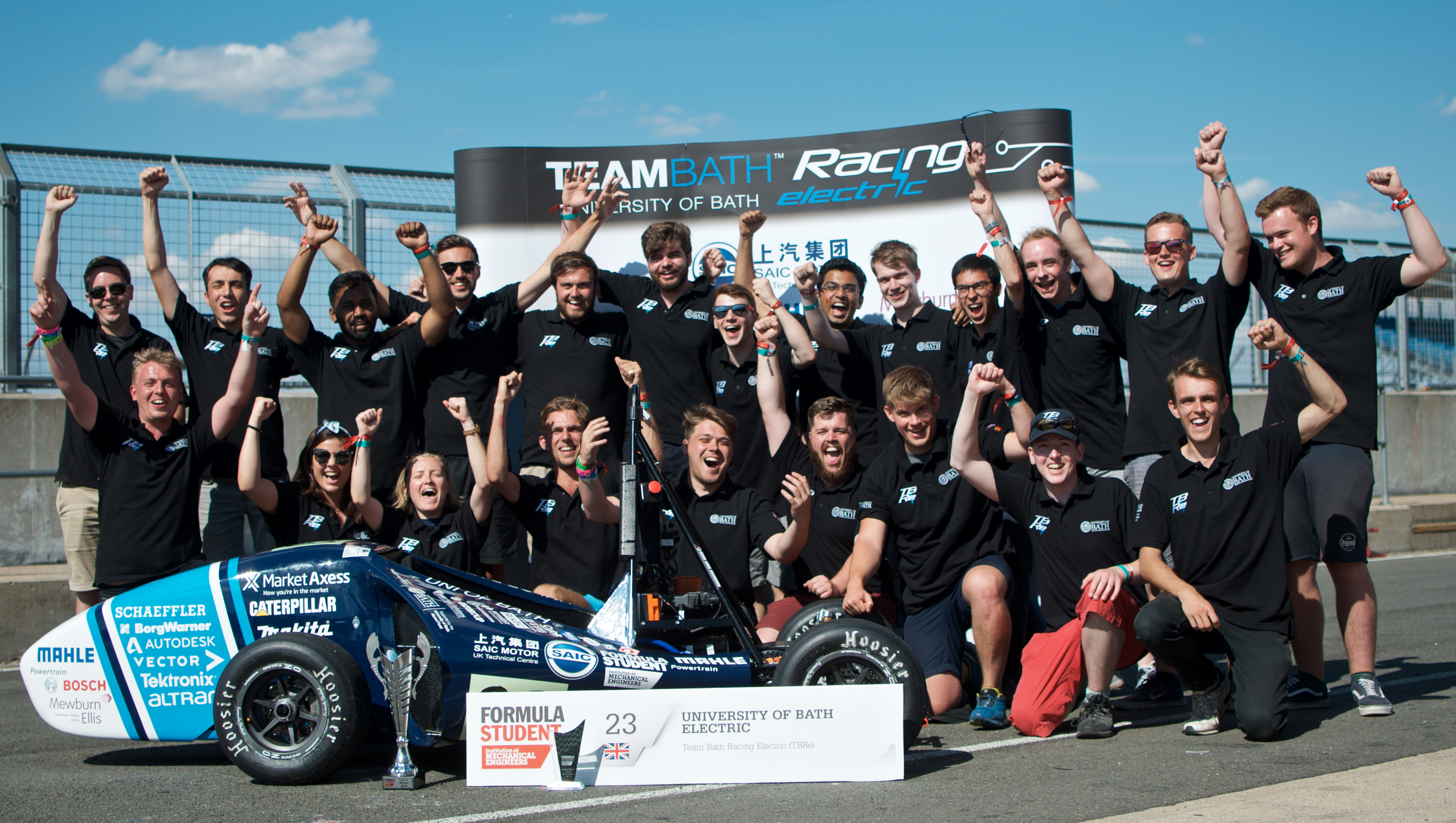 Team Bath Racing Electric had a highly successful weekend competing at Formula Student UK at Silverstone.
