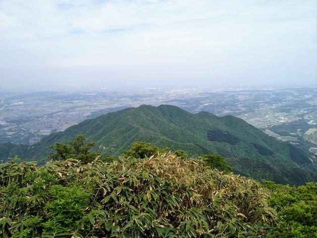 鎌ヶ岳 山頂から雲母峰
