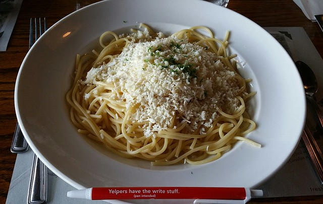 2018-Jul-24 The Old Spaghetti Factory - Spaghetti with Browned Butter and Mizithra Cheese