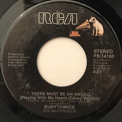 EURYTHMICS:THERE MUST BE AN ANGEL(PLAYING WITH MY HEART)(LABEL SIDE-A)