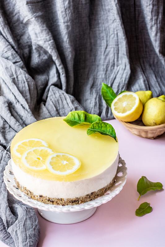 Cheesecake al limone senza cottura e senza glutine