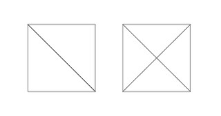 In sewing terms, two half-square triangles (or HSTs) form a square. Four quarter-square triangles (QSTs) form a square, as well. Both are required to finish this project.