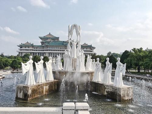 萬壽台噴水公園,北韓男女的約會聖地